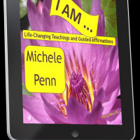 I AM Affirmations and Teaching by Michele Penn. Video download is shown here on a tablet.